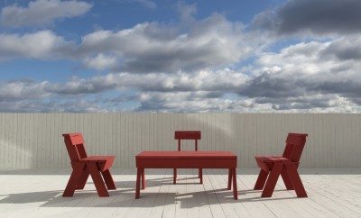 outdoor furniture on roof Alex Fradkin